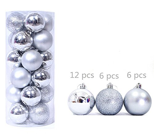 40CM Large 40Pcs Silver Balls Christmas Baubles Christmas Xmas Tree Beauteous Silver Balls Decor