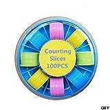AGLKH 100 Pezzi contatori contatori di gettoni marcatori di plastica 25 mm Colori Misti per gettoni da Bingo gettoni di Gioco con Scatola di immagazzinaggio, Un Set