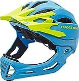 Cratoni Fahrradhelm C-Maniac, Blue-Lime Matt , 58-61 cm, 112406B3