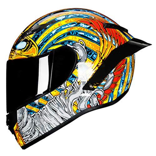 Generic Klappbarer Rennhelm Modularer Zweilinsen-Motorradhelm Integralhelm Casco