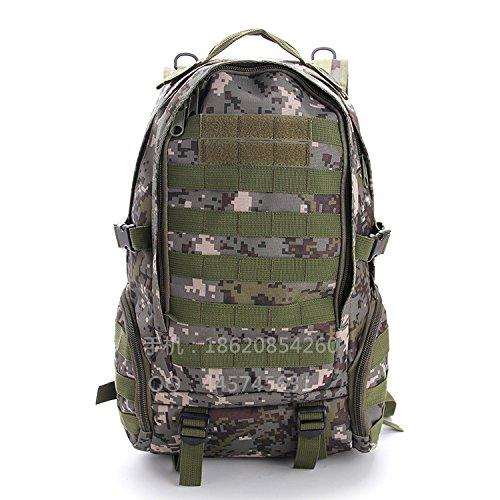 Camouflage 1 Umhängetaschen für Männer und Frauen outdoor Bags wandern Bag camouflage Bergsteigen Taschen, Army green Schwarz