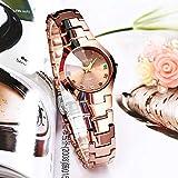 Yyzhx - Reloj de Pulsera de Acero de tungsteno para Mujer (Ultrafino, Resistente al Agua), E