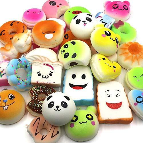 ishies Jumbo Medium Mini Soft Squishy Cake/Panda/Brot/Brötchen/Telefonhalter duftend ()