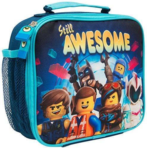 Lego movie 2 porta pranzo per bambini con tasca per bevande o merende borsa termica batman