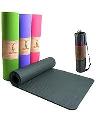 Yogamatte, SGS geprüft, umweltfreundliche TPE Yogamatte, 8mm dick, Pilatesmatte, Gymnastikmatte inkl. Tasche, hypoallergen, hautfreundlich und rutschfest (Hellgrün)