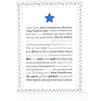 Personalisiertes Geschenk für Baby oder Neugeborene - Geschenkidee z.B. als Gastgeschenk zur Geburt oder Geburtstag   Bild für Jungen