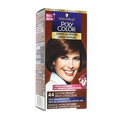 schwarzkopf coloration poly color 44 brun chocolat - Tie And Dye Coloration Maison