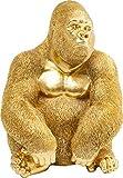 Kare Design Figurine de décoration Gorilla, Or, Medium