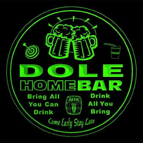 4x-ccq11851-g-dole-family-name-home-bar-pub-beer-club-gift-3d-coasters