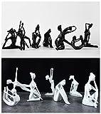 ZSY Yoga résine Statue Figurines, simplement Style décoration contemporaine de femmes créatrices, plusieurs postures de Pose, 1 pièce , white , B