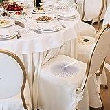 WeddingTree ® 60 x Handfächer Papier weiß faltbar - DIY- und Deko-Spaß für Groß und Klein - Gast-Geschenk Hochzeit Party Flamenco Bauch-Tanz - 7