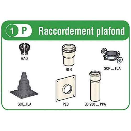 Kit rénovation DUALIS FLEXCONDENS PPh , diamètre 80/90 mm , Pour chaudières C3/C9 raccordement plafond (Gaz/Fioul) Réf.