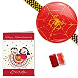 Abstract Spiderman Rakhi for Brother wit...
