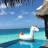 Flota inflable flotador de la piscina del unicornio con las válvulas rápidas Piscina al aire libre Salón de la piscina Decoraciones de la balsa Juguetes para los adultos y los cabritos (200 x 100x 90 cm)