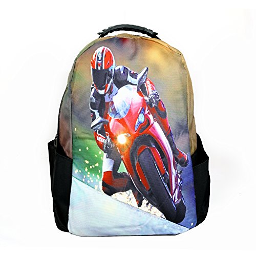 Modacubo Biker Theme Printed 20 Ltrs Laptop Backpack