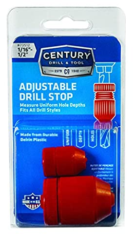Century Drill and Tool 73512 Adjustable Drill Stop, 2 Piece