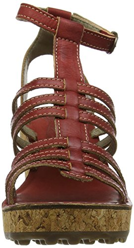 FLY London Damen Givo942fly Wedge Sandals Rot (red 003)