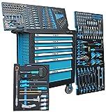 XL  Werkzeugwagen  Werkstattwagen  6 Schubladen / 6 gefüllt mit Handwerkzeug | Bit Sets, Ratschen, Nüsse und vieles mehr...