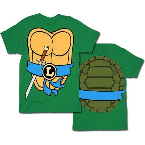 Teenage Mutant Ninja Turtles Donatello Kostüm Grün Erwachsene T-Shirt (Tmnt Standard Donatello Erwachsene Kostüme)