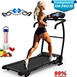 PrestigeSports XM-PROIII Treadmill 2018 Model Motorised Running Machine, Folding, 12KPH Speed, 3 Level Manual Incline,Speakers, Auto Lube, 12 Auto + 1 Manual Program, Pulse