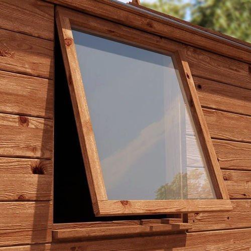 Preisvergleich Produktbild 6mm Transparent Acryl Plastik Sicherheit Blatt Für Schuppen Fenster M Verfügbar - 457mm x 457mm (18in x 18in)