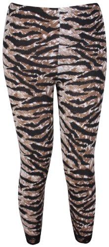 femmes imprimé motif dentelle femmes Garniture de bord ceinture élastique extensible 3/4 pantalons courts leggings grande taille Imprimé Tigre