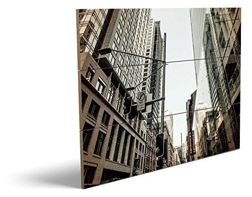 Bilder Kostüm Männliche Teufel (City, qualitatives MDF-Holzbild im Drei-Brett-Design mit hochwertigem und ökologischem UV-Druck Format: 80x60cm, hervorragend als Wanddekoration für Ihr Büro oder Zimmer, ein Hingucker, kein Leinwand-Bild oder)