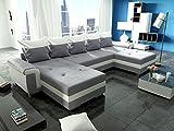 Couchgarnitur OPTI mit Schlaffunktion und Bettkasten als U Form in modernem Design, präzise verarbeitet, sehr komfortabel unter federt