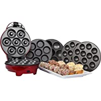 Gourmet Gadgetry Retro Diner Plaque 3en 1pour snack gâteaux, rouge