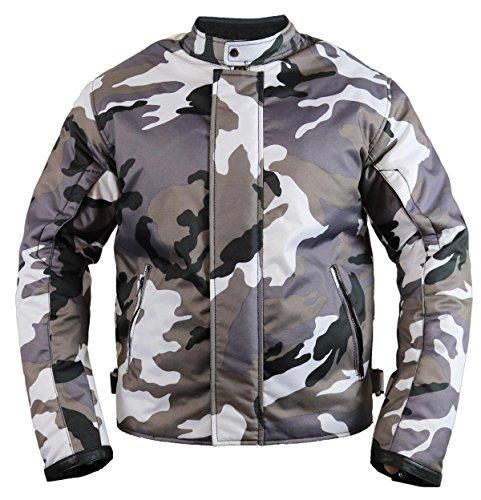 Textil Motorrad Jacke mit Protektoren (XL)