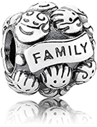 Pandora Women's 925 Sterling Silver Family Charm Bead