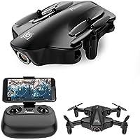 Potensic Drone con Cámara HD 720P, U29 Dron cuadricóptero, RC Quadcopter Plegable con WiFi FPV 2.4GHz Control remoto y función de corriente óptica sin cabeza