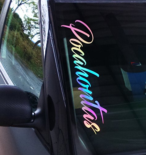 Pocahontas Aufkleber Frontscheibenaufkleber 55cm Oilslick Hologramm Folie