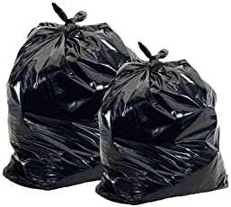 Madison Avenue 100% Biodegradable Garbage/Trash/Bin Liners/Dustbin Garbage Bags,Medium Size 20inchX24inch (Colour: Black)-Pack of 30 Bags
