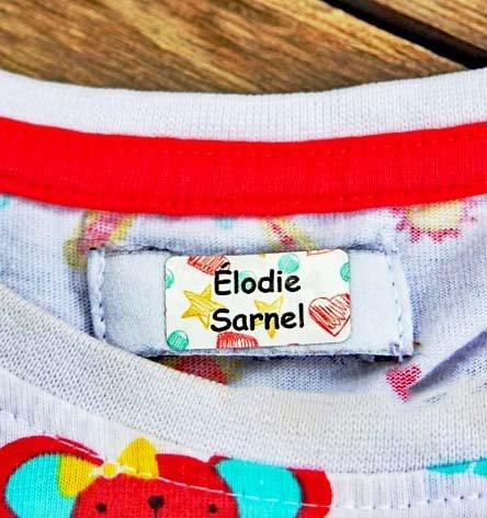 Namensaufkleber Kleidung (60 Stück) (Kinder Für Namensschilder)