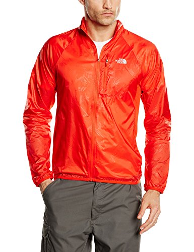 The North Face Herren Jacke M Nsr Wind Jacket Eu, Fiery Red, S, 0706421951982 (Track Jacket North Face)