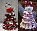 Buyi-World Tortenständer Mehrstöckige Hochzeit Muffinständer und Dessert Tower, Kuchen Deko Gestell Stabil für Geburtstag und Feier Party, 5 etagen Acryl - 3