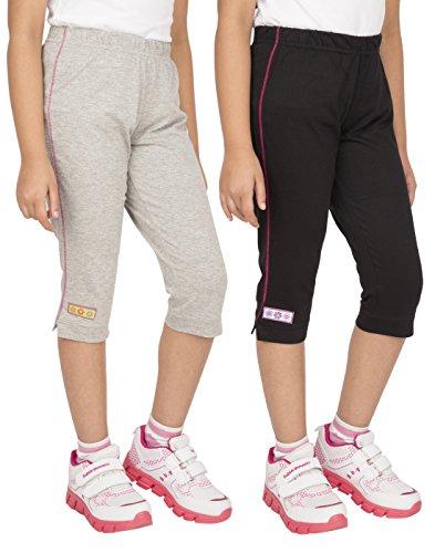 OCEAN RACE Women's Stylish attarctive colors Cotton Capris(3/4 th Pant)-Pack of 2-WOMEN-C-15166-L