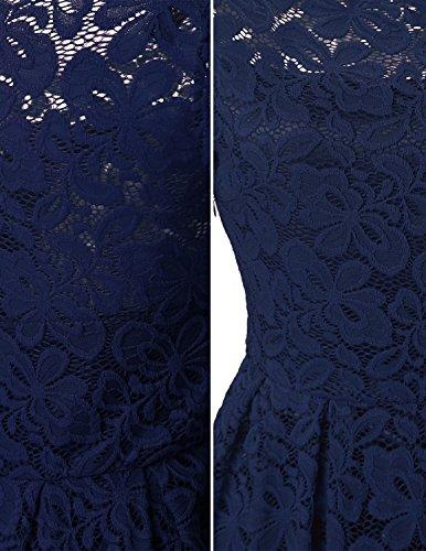 Sitengle Damen Spitzenkleider Swing Sommerkleid Ballkleid Festkleid  Partykleid Cocktailkleid Kleid Blau