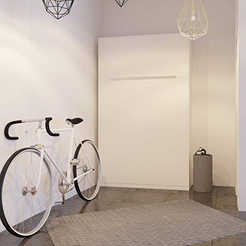 Smartbett Wandklappbett Schrankbett Wall bed 120 x200 Vertikal Weiß - 2