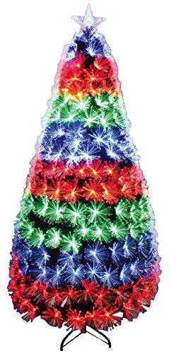 Weihnachten Concepts® 96 Inches (2.4M) grün LED Feuerwerk Glasfaser Weihnachtsbaum mit Multi-LED-Lichter Eigenschaften Wasserfall Funktion (Lichter Wasserfall Weihnachten)