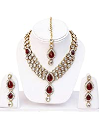 Aradhya Traditional Layered Gold Plated Kundan Necklace For Women Traditional Jewellery Set With Earrings For...
