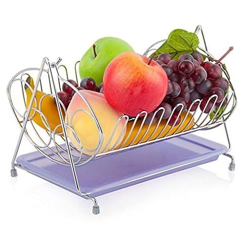XMM Fruit bowl, Acier Inoxydable Assiette De Fruits En Couleur