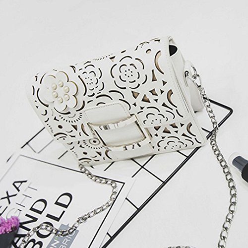 Millya, Borsa a tracolla donna, white (bianco) - bb-00367-01 white