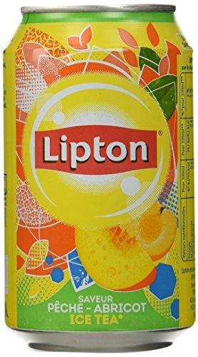 Lipton Thé Glacé Pêche-Abricot 6X33cl - Lot de 2