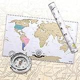 Scrape off World Map - Carte du monde à gratter en français - Taille XXL - Qualité supérieure