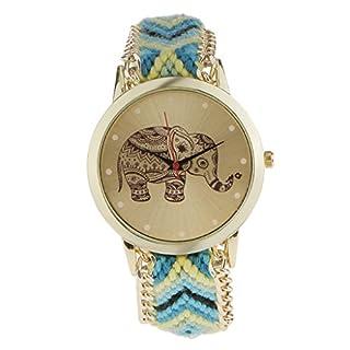 Generic Damen Armbanduhr Analog Quarzwerk mit Stoff ArmbandGeneric