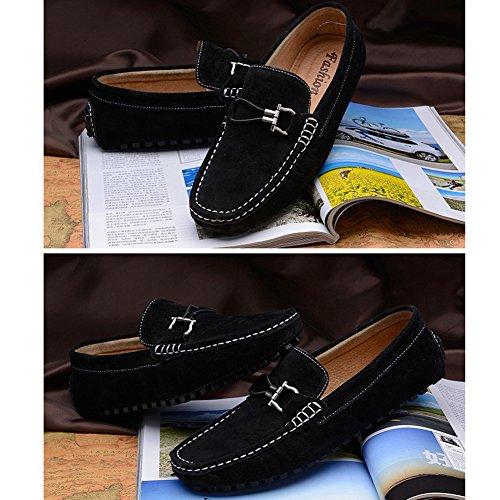 Mocassins suede Chaussures hommes Noir