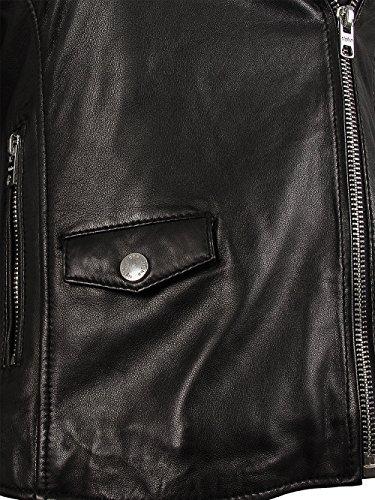 TIGHA Damen Lederjacke Vintage Black ALBA Neue Kollektion XL - 5