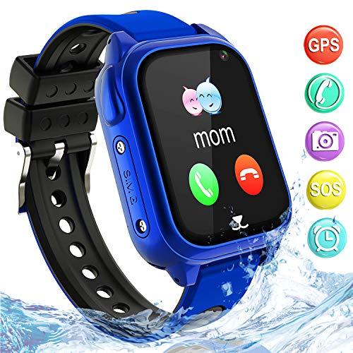Impermeable GPS Smartwatch para Niños, IP67 Impermeable Reloj inteligente Phone con GPS...